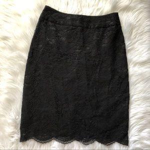 Banana Republic Black Lace Pencil Skirt Size 4